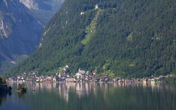 Vista a Hallstatt en Salzkammergut Imagen de archivo libre de regalías