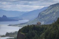 Vista-Haus, Columbia River Schlucht, Oregon Lizenzfreies Stockbild