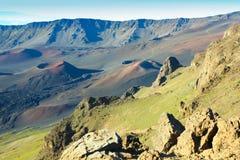 Vista Hawai del vulcano Fotografia Stock Libera da Diritti
