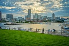 Vista HDR della città del Giappone Yokohama immagine stock libera da diritti