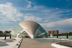 Vista a Hemisferic, cidade das artes e da ciência Fotos de Stock Royalty Free