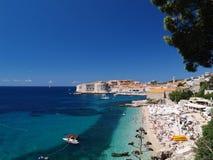 Vista hermosa de Dubrovnik Foto de archivo libre de regalías