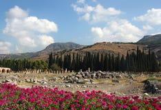 Vista hermosa de Hierapolis Fotos de archivo libres de regalías