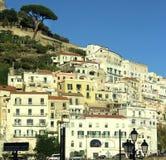 Vista hermosa de la costa de Amalfi fotos de archivo libres de regalías