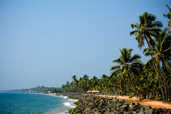 Vista hermosa de la playa en el día asoleado Imagenes de archivo
