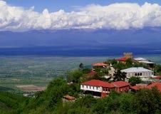 Vista hermosa de montañas Imagenes de archivo