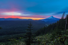 Vista hermosa del capo motor del montaje en Oregon, los E fotografía de archivo