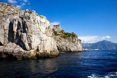Vista hermosa del Costiera Amalfitana Imagenes de archivo