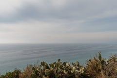 Vista hermoso de Dume del punto en el invierno, Malibu, California Imagen de archivo libre de regalías