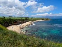 Vista Ho 'do parque da praia do okipa em Maui foto de stock
