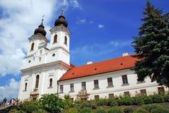 Vista horizontal de la abadía de Tihany Fotos de archivo
