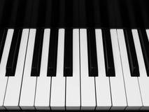 Vista horizontal de los claves del piano Fotos de archivo libres de regalías