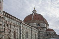 Vista horizontal del Duomo de IL foto de archivo