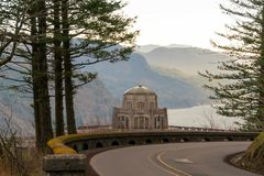 Vista House along Old Columbia Highway Stock Images
