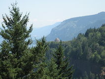 Vista House from Chanticleer Point Royalty Free Stock Photo