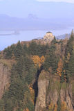Vista house and Columbia Gorge OR. Vista House & Columbia River Gorge Oregon. (Vertical composition Royalty Free Stock Photography