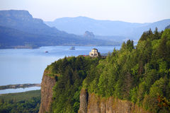 Vista House & Columbia Gorge OR. Royalty Free Stock Photo