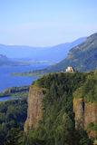 Vista House & Columbia River Gorge, OR. Royalty Free Stock Photography