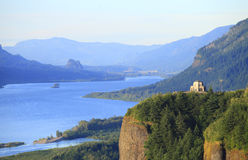 Vista House & Columbia River Gorge, OR. stock photo