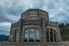 The Vista House in the Columbia River Gorge, Oregon royalty free stock images