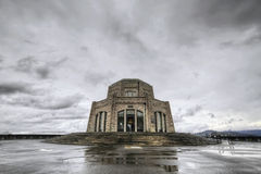 Vista House on Crown Point. Historic Vista House on Crown Point in Columbia River Gorge Oregon Stock Image