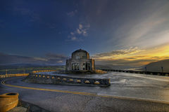 Vista House on Crown Point. Sunrise at Vista House on Crown Point Stock Images