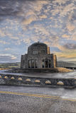 Vista House on Crown Point 3. Sunrise over Vista House on Crown Point Oregon 3 Stock Image