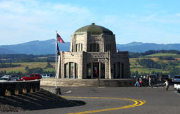Vista house Crown point, Oregon tourists. PORTLAND OREGON USA  - August 20 Vista House crown point Oregon, a popular tourists destination to the site while Stock Image