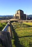 Vista house & fence-posts Royalty Free Stock Images