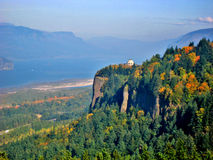 Vista House in Oregon. A view of the Vista House on the side of a mountain in the Columbia River Valley of Oregon Royalty Free Stock Image