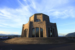 Vista House at sunset. Royalty Free Stock Images