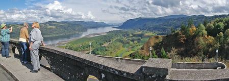 Vista House Viewpoint Panorama Stock Photos