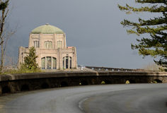 Vista House. Was built in 1917 on one of the most beautiful scenic points on the Historic Columbia River Highway, Crown Point, near Portland Oregon Stock Image