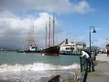 Vista a Hyde Street Pier a San Francisco fotografia stock libera da diritti