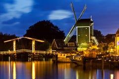 Vista icónica em Leiden [Países Baixos] Foto de Stock Royalty Free