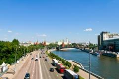 Vista iconica di Cremlino, Russia Immagine Stock