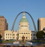 Vista iconica di St. Louis Fotografie Stock Libere da Diritti