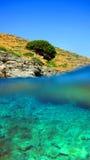 Vista idílica de una isla griega Imágenes de archivo libres de regalías