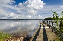 Vista idílico da ponte Fotos de Stock