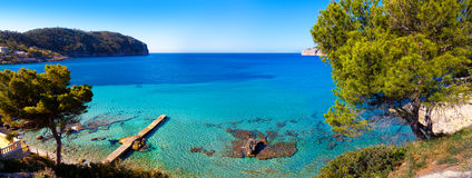 Vista idilliaca del mare in Mallorca Immagini Stock
