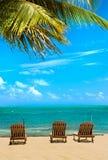 Vista idilliaca dell'isola dei Caraibi Immagini Stock