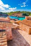 Vista idilliaca della Spagna Maiorca della baia di Almunia del ` di Cala S Fotografie Stock