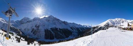 Vista III del moutain di panorama di inverno Fotografia Stock