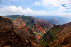 Vista imponente del barranco Kauai Hawaii de Waimea Imágenes de archivo libres de regalías