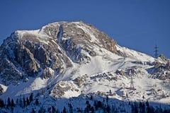 Vista imponente di alte alpi austriache di Tauern nell'inverno Fotografie Stock