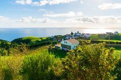 Vista imponente hermosa del pueblo en Nordeste Imagen de archivo libre de regalías