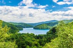 Vista impresionante de los lagos Plitvice imagen de archivo libre de regalías