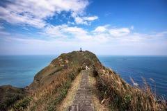Vista impresionante de una pista de senderismo en Taiwán imágenes de archivo libres de regalías