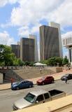 Vista impressionante de construções da agência 1-4, na frente da plaza '15 do estado de Albany Foto de Stock Royalty Free