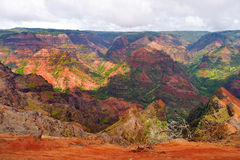 Vista impressionante na garganta de Waimea, Kauai Fotos de Stock Royalty Free